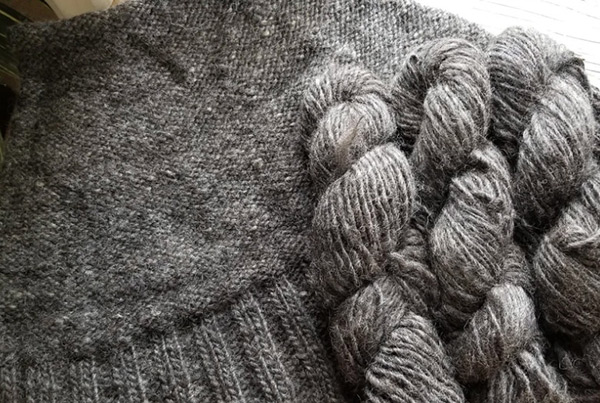 Bulky Alpaca & Sheep Blend Yarn, Black – $38.00