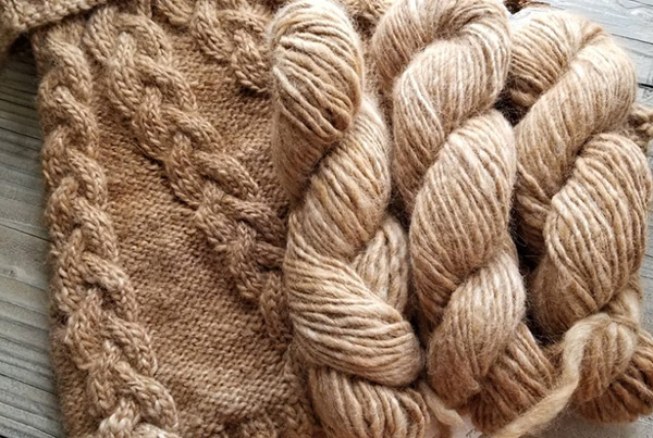 Bulky Alpaca & Sheep Blend Yarn, Tan – $38.00