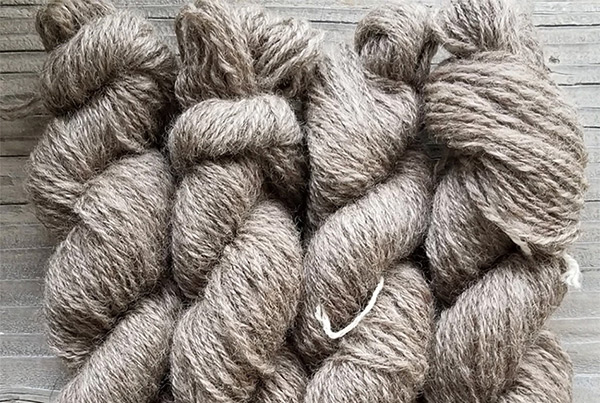 DK Alpaca Sheep Blend Yarn, Brown – $22.00